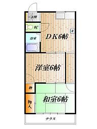 神奈川県横須賀市三春町4丁目の賃貸アパートの間取り