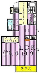 メゾンレーヴ[1階]の間取り