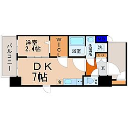 エステムコート名古屋新栄IIアリーナ 8階1DKの間取り