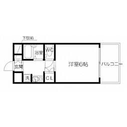 ノイエ新大阪A棟[7階]の間取り
