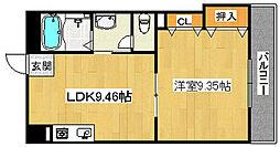ハイツサッカラ[6階]の間取り
