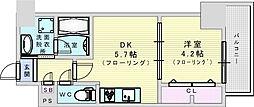 JR東海道・山陽本線 吹田駅 徒歩4分の賃貸マンション 4階1DKの間取り