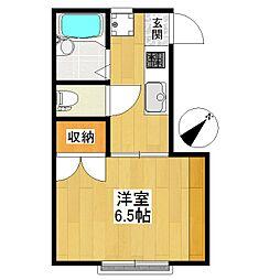 東京都世田谷区大蔵6丁目の賃貸アパートの間取り