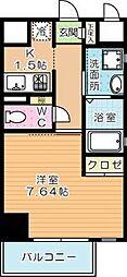 studie KOKURA(スタディ小倉)[210号室]の間取り