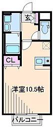 神奈川県横浜市港北区樽町1丁目の賃貸アパートの間取り