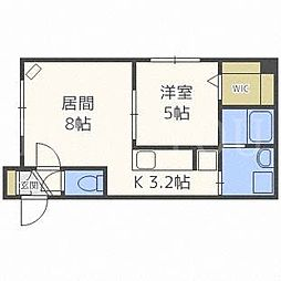 北海道札幌市白石区本郷通7丁目北の賃貸マンションの間取り