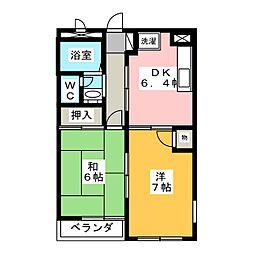 メゾニティ森田S[1階]の間取り