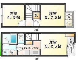 [テラスハウス] 兵庫県神戸市垂水区西舞子2丁目 の賃貸【兵庫県 / 神戸市垂水区】の間取り