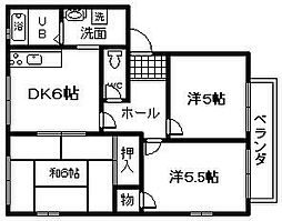 レジデンス鳥取[101号室]の間取り