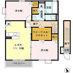 ジーコートII[1階]の間取り