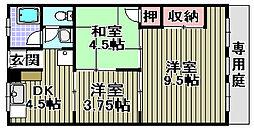 福永マンション[105号室]の間取り