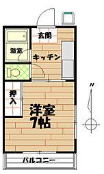藤田荘[203号室]の間取り