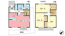 [テラスハウス] 兵庫県姫路市西今宿5丁目 の賃貸【/】の間取り