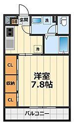 神奈川県綾瀬市寺尾北4の賃貸アパートの間取り
