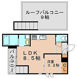 グランディックM-2nd[2階]の間取り