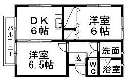 静岡県浜松市西区篠原町の賃貸アパートの間取り