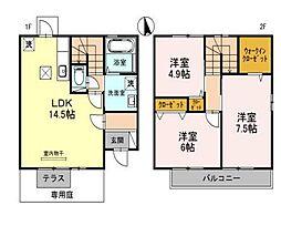 [テラスハウス] 兵庫県神戸市西区上新地1丁目 の賃貸【/】の間取り