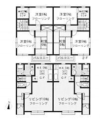 [テラスハウス] 東京都八王子市高尾町 の賃貸【東京都 / 八王子市】の間取り