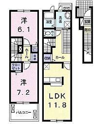 プレ・アビタシオン土浦III[2階]の間取り