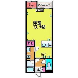 PLAZA新園町[5階]の間取り