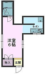 兵庫県芦屋市津知町の賃貸マンションの間取り