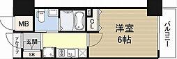 エステムコート難波サウスプレイスIIIラパーク[2階]の間取り