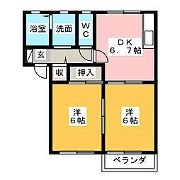 フォーレスK[2階]の間取り