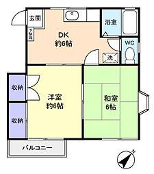コアハイム八千代[2階]の間取り