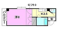 サンフィールド21[201 号室号室]の間取り