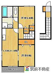 エンゼルパークIII[2階]の間取り