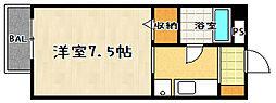 セジュール日吉[201号室]の間取り