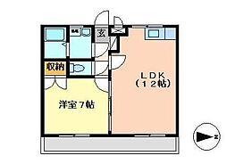 宮崎県宮崎市大塚町の賃貸マンションの間取り