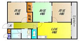 川島第23ビル[6階]の間取り