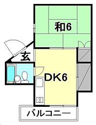 松浦第2ビル[202 号室号室]の間取り