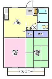 ラベンダーハウスA棟[1階]の間取り
