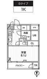 新築 レクシード武蔵関駅前[117号室号室]の間取り