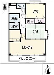 ステラコートM[2階]の間取り