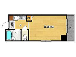 SHICATA SEPT BLDG[201号室]の間取り
