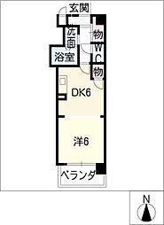 シティヴィラ中浜田[5階]の間取り