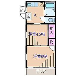 ヤヨイハイツ[1階]の間取り