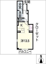 セントレアA[1階]の間取り
