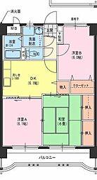 サングリーン藤沢II[603号室]の間取り