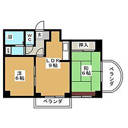 ヴァリューN166[6階]の間取り