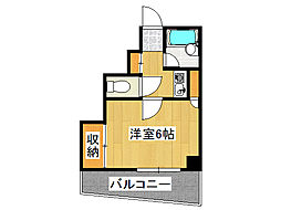 ルミナス難波[8階]の間取り
