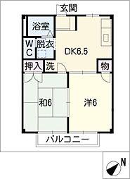 サンライズ前田[1階]の間取り