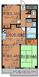 東京都練馬区中村南1丁目の賃貸マンションの間取り