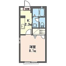 サニーコートダイドーC[2階]の間取り