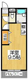 京都府京都市伏見区深草稲荷鳥居前町の賃貸アパートの間取り