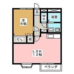 メッツ駒生[2階]の間取り