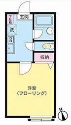 東京都新宿区西早稲田2丁目の賃貸アパートの間取り